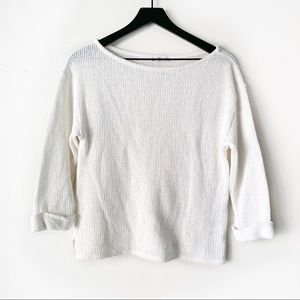 Zara Trafaluc Ivory Knit Boxy Sweater Size Medium